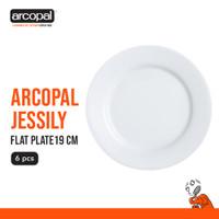Piring Dessert Arcopal Jessily - Flat Plate 19 Cm Box of 6 - Putih
