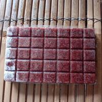 cacing beku tray kualitas kering dan bersih/cacing darah beku