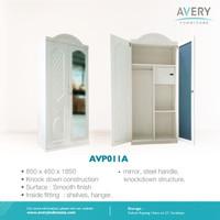Avery Furnitures - Lemari Pakaian Besi 2 Pintu - AVP011A / AVP011B