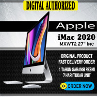 iMac 2020 256512 SSD 27 5K Display Apple iMac MXWT2 MXWU2 MXWV2 Resmi