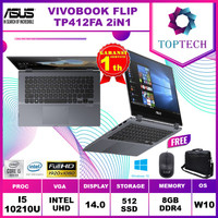 ASUS VIVOBOOK FLIP TP412FA 2in1 Touch i5 10210 8GB 512ssd W10 14.0FHD