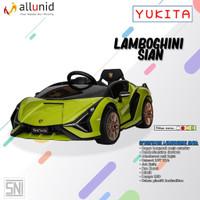 Mainan Anak Mobil Aki Ban Karet Lamborghini Sian