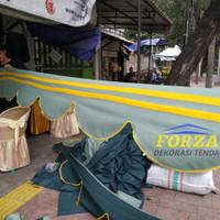 rumbai tenda pesta bahan terpal cv army