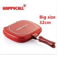 HAPPY CALL 32CM Panci teflon double pan bisa tuk alat panggang grill