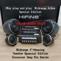 Speaker Hifine PNP 2way Midrange 3+Tweeter plus crossover 3way pro