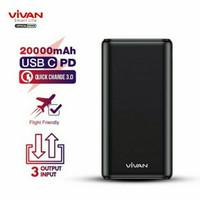 VIVAN VPB-H20S Powerbank 20000Mah 22.5W PD 3 input & 3 output