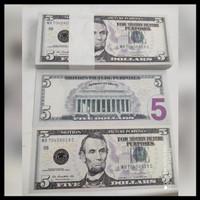 JUAL MURAH Uang Mainan Dolar / Dollar Amerika isi 100 / Uang Seserahan