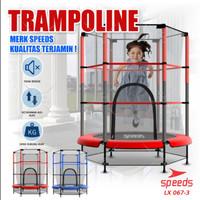 Trampoline Untuk Anak Anak Trampolin Lompat Olahraga Original 067-3 - Merah-3
