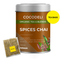 SPICES CHAI   Big Tin   Cocodeli by Haveltea Organic   Teh Rempah Jahe