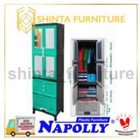 Lemari Pakaian Napolly CRS 6X21D/ Lemari Plastik Gantung Dengan Kaca