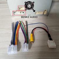 Soket audio dan kamera input headunit kijang innova Fujitsu ten
