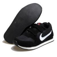 sepatu olahraga sekolah anak laki laki sneakers prepet nike hitam BM02