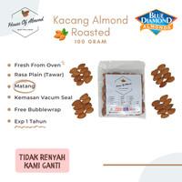 Kacang Almond Roasted ( Panggang ) 100 Gr Blue Diamond Premium