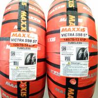 ban ADV 150 Sepasang MAXXIS VICTRA uk 120/70-14 & 140/70-13 tubeless