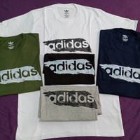 Kaos Adidas Brushstroke Original Sisa Eksport, Baju Kaos Pria Branded