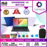 ASUS VIVOBOOK M413IA - Amd Ryzen 7 4700 8GB 512ssd Vega7 W10+OFFICE