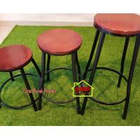 Kursi Bar Cafe Resto Besi Tinggi Sedang Pendek Bangku Billiard Bakso