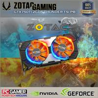 Zotac Geforce Gtx 750 Ti Thunder Dual Fan 2Gb 128Bit Ddr5 Pasti Ready
