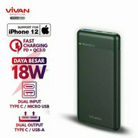VIVAN VPB-M10 Powerbank 10000Mah 18W two-way Quick charging