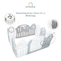 Dimora HOME 10+2 - White & Gray Play Fence Pagar Main Anak