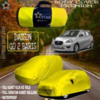 Sarung Mobil DATSUN GO 2 BARIS Polos KUNING Body Cover Datsun PREMIUM