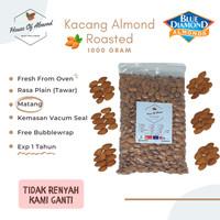 Kacang Almond Roasted (Panggang) 1 Kg Blue Diamond Premium