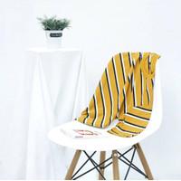 Kaos Stripe Pria 100% Premium Cotton Belang-Belang Mustard Classic
