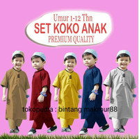 koko anak laki 1 - 12 tahun / stelan baju muslim anak laki