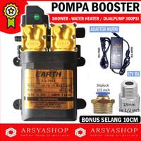 Pompa Booster Shower Water Heater Toren Earth Dualpump 300Psi Dela1933