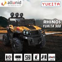 Mainan Anak Mobil Aki Ban Karet Rhinos YUKITA 908 NON PAINT