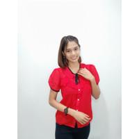 Baju Fashion Wanita Murah Bahan Sifon - Blouse/Kemeja Kerah Tali 0012
