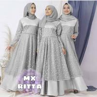 Baju Gamis Brukat Baju Gamis Wanita Gamis Wanita Muslimah RITTA RD - Abu-abu
