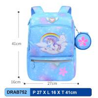 DRAB752 Tas Ransel Anak Sekolah Anti Air - UNICORN SKYBLUE