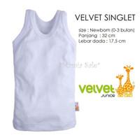 Velvet Junior SINGLET BAYI Size NEWBORN Kaos Dalam Bayi Anak SNI