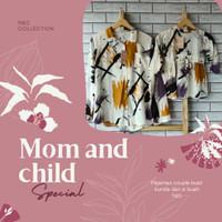 baju couple ibu dan anak setelan pajamas rayon / couple tie dye
