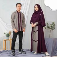 Fashion muslim couple baju gamis pasangan keluarga family casual murah
