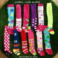 Legging Bayi Motif Cotton rich Tight Tutup Kaki - Girl, 6-12 Bulan