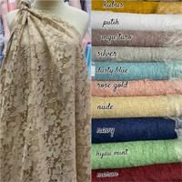 BRUKAT FATMAWATI/ kain brokat terlaris/ kain lace bahan kebaya