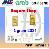 Emas Batangan Logam Mulia LM Antam 3 gram, Certieye/Reinvented, Asli