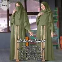 Baju Gamis Wanita Gamis Syar'i Gamis Wanita Muslimah SAHARA - Army