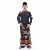 Baju Koko Anak Baju Koko Palestina Baju Kemeja Anak Laki Laki Terbaru - Hitam Pundak, 14