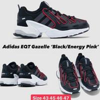 sepatu adidas eqt gazelle black energy pink
