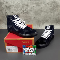 Sepatu Vans Sk8 Hi Pro Skate All black Full hitam Premium Original