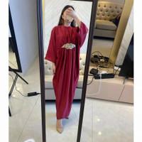 BM - Vinesa Dress Kaftan Baju Wanita Fashion Muslim Elegant JSC