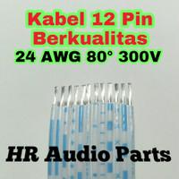 Kabel Pita 12 Pin Berkualitas Cable Flat 12p 24 AWG 80° 300V Per 10Cm