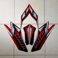 Stiker Striping Motor Rx King 2008 Merah maroon
