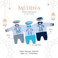 Baju Koko Jumper / Romper Muslim Bayi Laki-Laki Newborn 0 - 3 Bulan