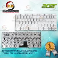 Keyboard Original Acer Aspire One 721 722 751 1810 ZA5 753H - White