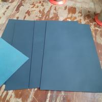 Leather Sheets Navy Blue Biru Tua Bahan Kulit Sapi Lembaran 20x30cm