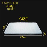 ONGKIR MURAH JABODETABEK -IGOYO Travel bed/KASUR LIPAT GULUNG PORTABLE